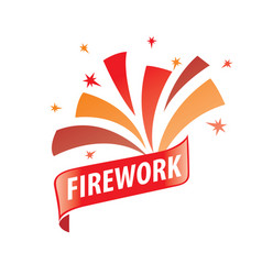 logo for fireworks vector image