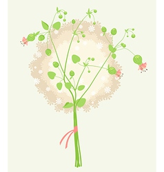 Lovely bouquet vector
