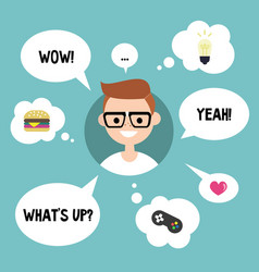 modern communication concept happy nerd vector image