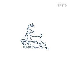moose deer logo icon or symbol vector image