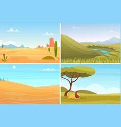 nature landscape desert safari park agriculture vector image