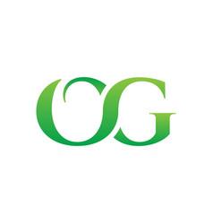 o g green letter logo design concept vector image