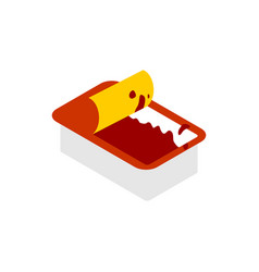 Open ketchup dip pack isolated sauce for fast vector