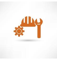 Orange setting icon vector image