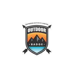 outdoor badge concept template vector image