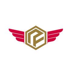 P initial logo design simple minimalist vector