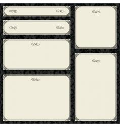 Parchment frame set vector