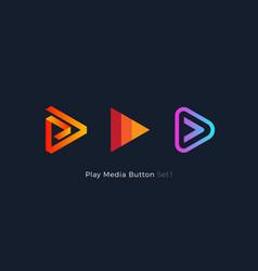 play button foe media app multimedia player logo vector image