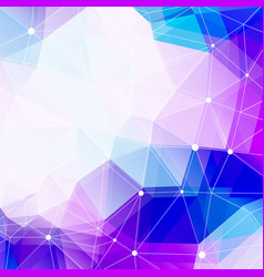 Polygonal background and copy space abstract vector