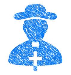 priest grunge icon vector image