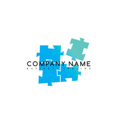 Puzzle exclusive brand company template logo vector