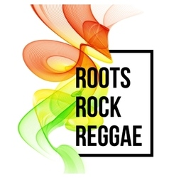 Reggae color wave poster design vector image