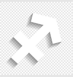 Sagittarius sign white icon vector