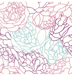 seamless texture with flowers roses vector image