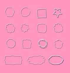 set of prints grunge texture vector image