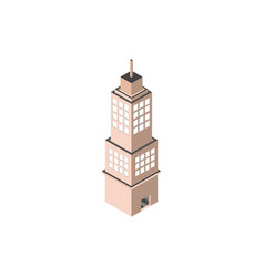 skyscraper tower urban building isometric style vector image
