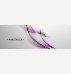 smooth blur wave background vector image