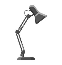 table lamp icon modern computer desk lamp vector image
