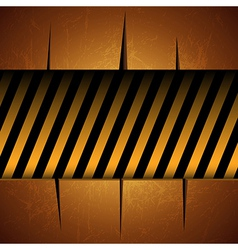 Textured Template with Warning Stripes vector image
