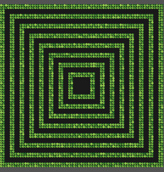 the concentric banner green of sequins back vector image