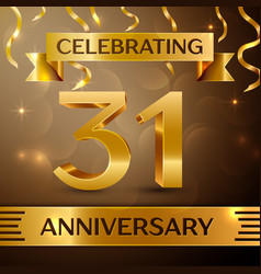 thirty one years anniversary celebration design vector image