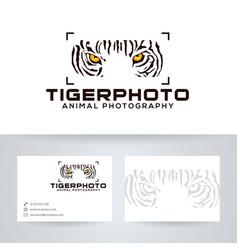 Tiger photo logo design vector