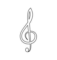 treble clef the black color icon vector image