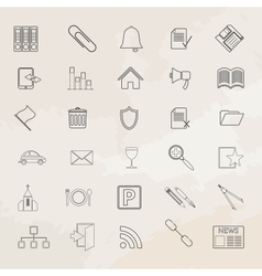 Universal icon set vector image