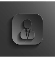 User icon - black app button vector image