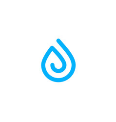 water drop logo icon vector image
