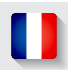 Web button with flag of France vector