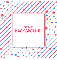 white frame with colorful geometric background vector image