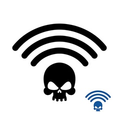 Wifi Death Wireless transmission of death Remote vector image