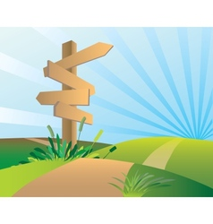 Directions sign post vector