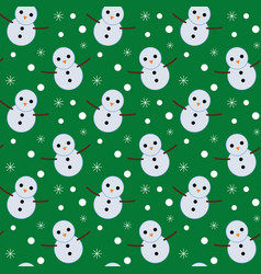 happy snowman christmas pattern vector image