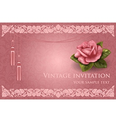 Invitation card vector image vector image