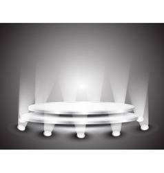 Podium with light vector