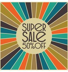 Retro sale card design vector image