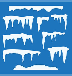 set of ice caps vector image vector image