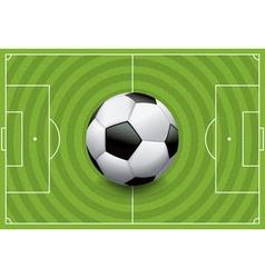 Soccer football field with ball vector