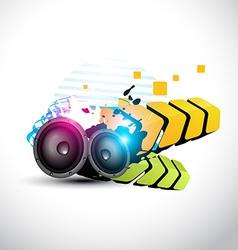 stylish speaker eps10 speaker design vector image vector image