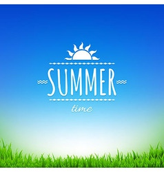 Summer Time Banner vector image