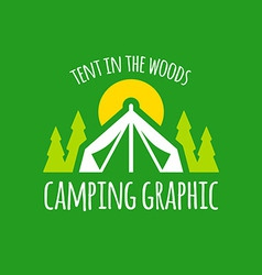 Camping tent graphic vector image vector image