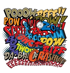 Comic book words explosions vector image vector image