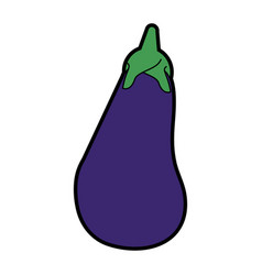 eggplant or aubergine vegetable icon image vector image vector image