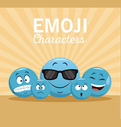 emoji chat characters vector image vector image