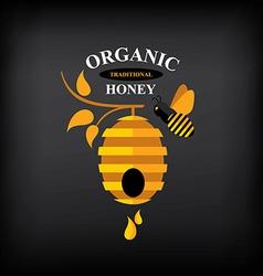 Honey badgelabel Abstract bee design vector image vector image