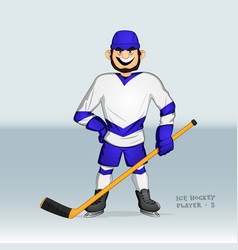ice hockey player standing vector image
