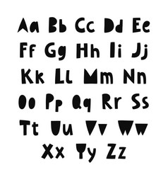 love letter alphabet vector image