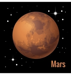 Mars planet 3d High quality vector image
